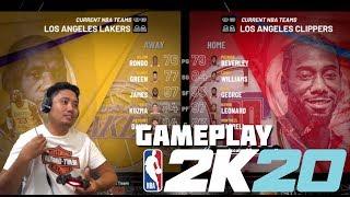 NBA 2K20 Los Angeles Lakers Versus Los Angeles Clippers PS4 Gampeplay - jccaloy