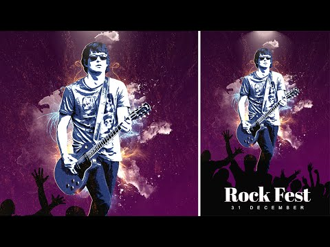 Concert Poster | Photoshop Manipulation Tutorial