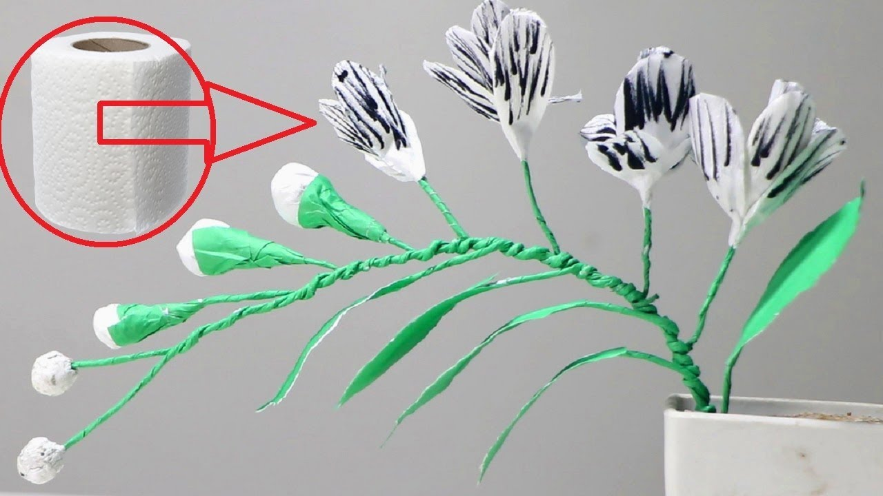 How to make toilet tissue paper flowers diy toilet paper flower how to make toilet tissue paper flowers diy toilet paper flower mightylinksfo