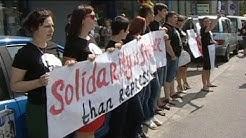 Proteste vor der weißrussischen Botschaft in Litauen