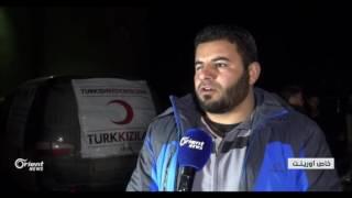 وصول 350 أهالي سرغايا المهجرين إلى قلعة المضيق