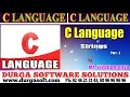 C Language tutorial||onlinetraining||Strings Part-2 by Sivaramayya