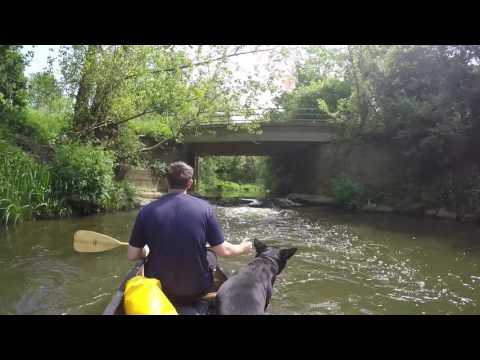 Canoeing on the river Beult at yalding