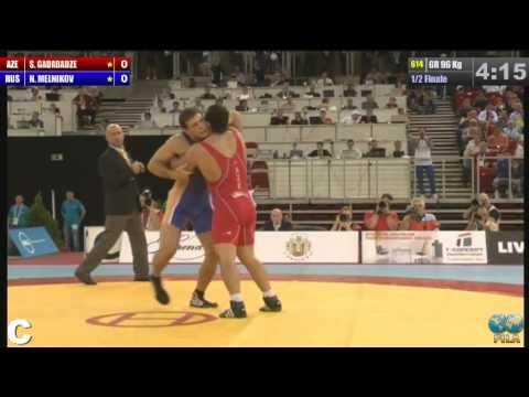 ЧМ-2013 96 кг. Никита Мельников - Шалва Гадабадзе (Азербайджан) 1/2 финала