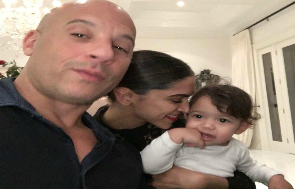 Deepika Padukone Cute Pose With Vin Diesel Daughter