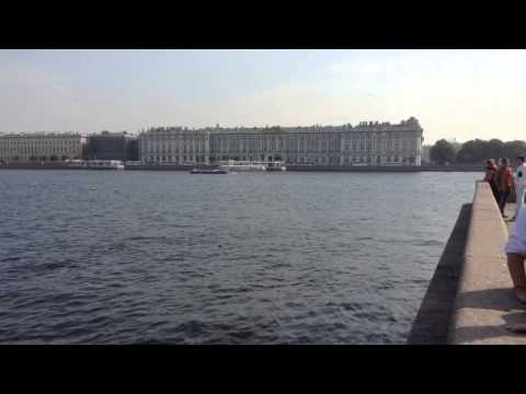 Panorama of St Petersburg Russia waterfront