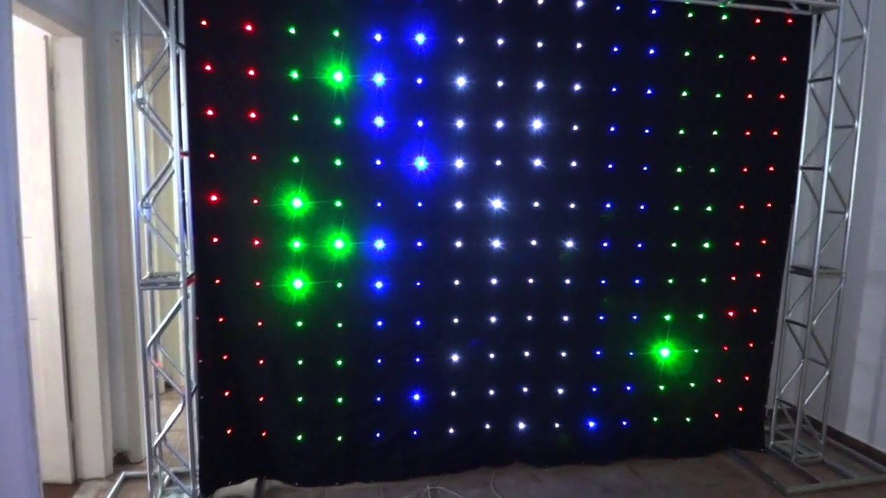 cortina de led e estrutura q20  YouTube