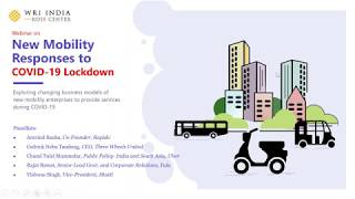 Webinar | New Mobility Responses to COVID 19 Lockdown
