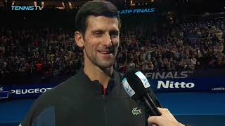 Djokovic Shares Thoughts On Zverev Win At The 2018 Nitto ATP Finals