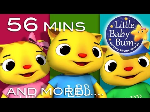 Three Little Kittens | Plus Lots More Nursery Rhymes | 56 Mi