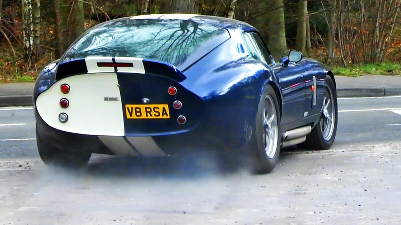 Shelby Daytona Cobra Revs Wheelspins And Slides Hd Youtube