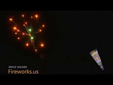 Space Walker Fireworks Stick Rockets from Cannon