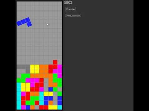 [HTML Tetris] High Score 11208