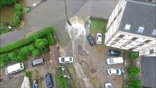 Vues aériennes par drone des inondations de Breteuil pour France 2