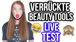 DIE VERRÜCKTESTEN BEAUTY TOOLS IM LIVE TEST! | LaurenCocoXO
