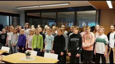 Kirkkoharjun koulun 5C & 6C popup kunnantalolla 24.5.2019