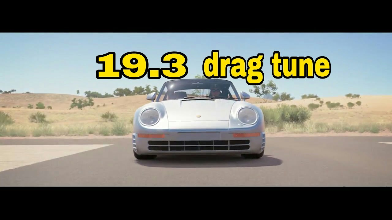 Forza horizon 3 porsche 959 drag tune 19 3sec full drag build