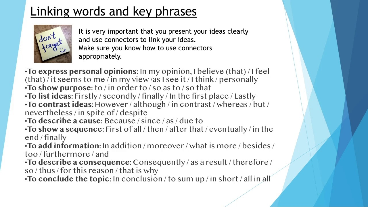 linking words  key phrases  essay writing  cambridge english  linking words  key phrases  essay writing  cambridge english first  fce paper  writing
