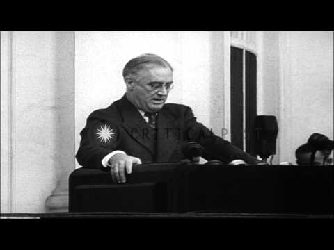 President Franklin D. Roosevelt addresses the American Youth Congress at the Whit...HD Stock Footage