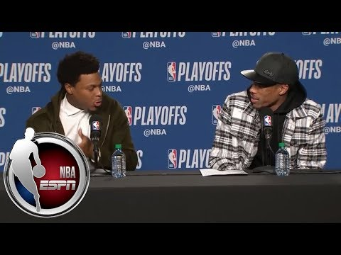 [FULL] Kyle Lowry and DeMar DeRozan's great banter during Game 2 news conference | NBA on ESPN
