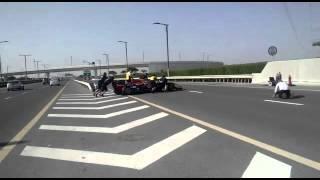 Formula 1 on Dubai roads. UAE