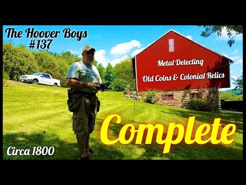 Metal Detecting - 1800 Farm House - Old Coins & Relics | Complete
