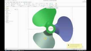 Fan Blade (How to) - Creo Parametric 2.0 / Pro Engineer
