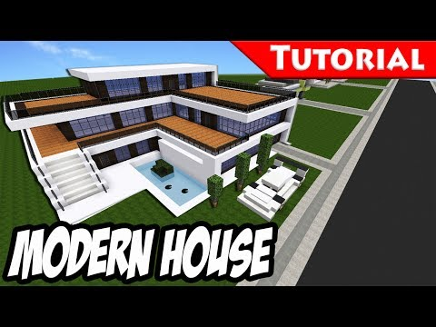 Minecraft: Easy Modern House / Mansion Tutorial + DOWNLOAD - 1.8 [ How to make ]