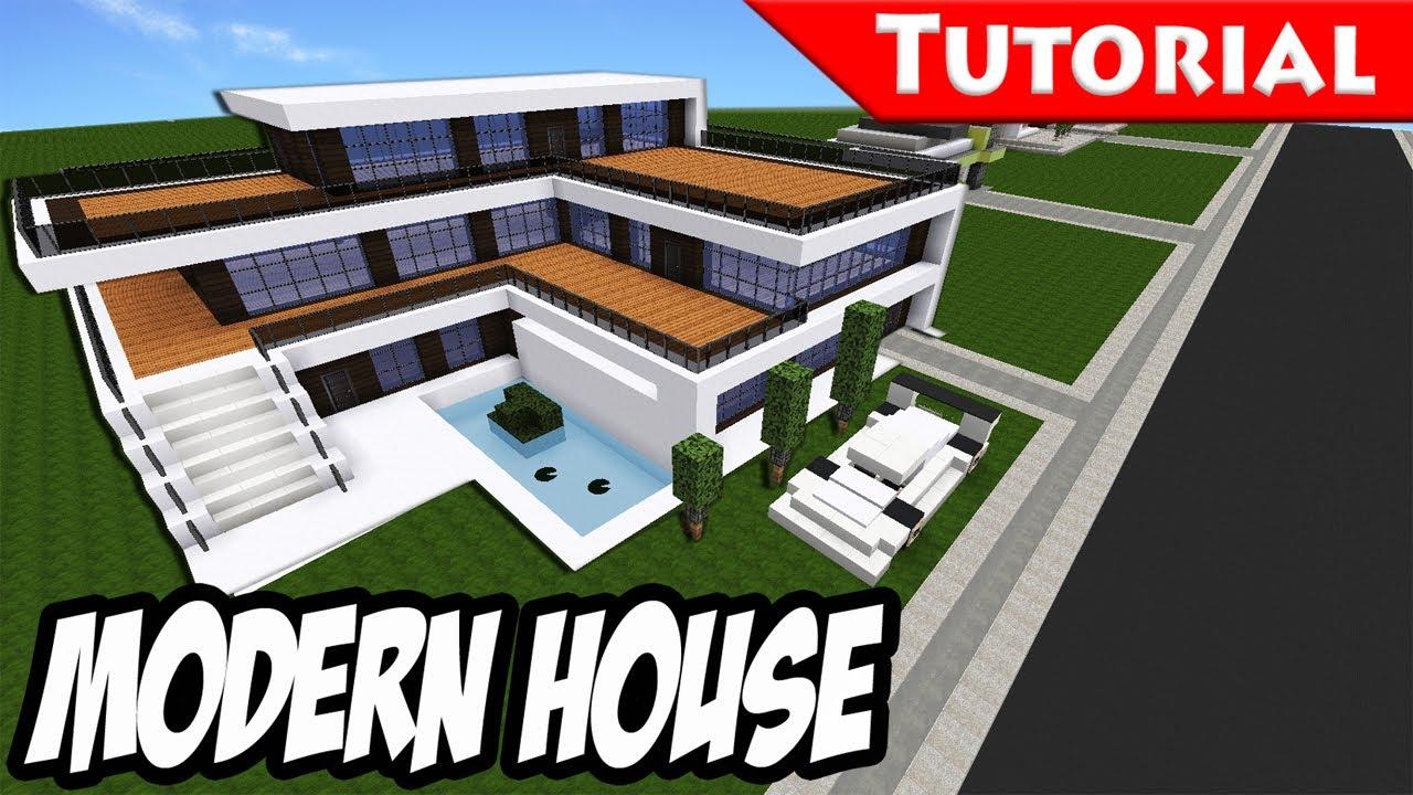 Best Kitchen Gallery: Minecraft Easy Modern House Mansion Tutorial Download 1 8 of Coolest Big Modern Houses on rachelxblog.com