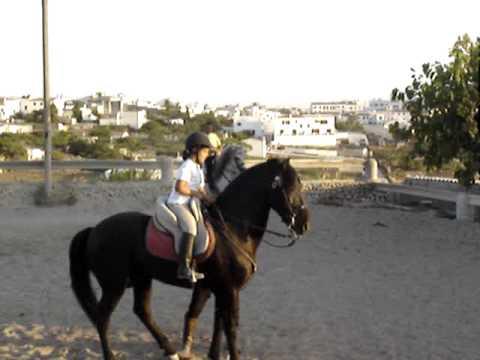 """Marta fent """"jaleo"""" cavall menorquí"""