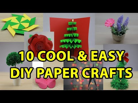 10 Easy DIY Paper Craft Ideas | Flower | Tree | Butterfly - Topderful