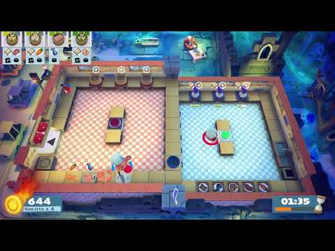 Overcooked 2 [Night of the Hangry Horde] Level Kevin 1 - 2 players - 4 stars |