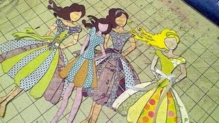 Mix Media Paper dolls for Scrapbooks
