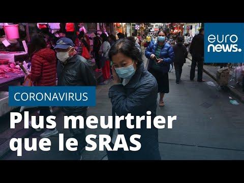 Le nouveau coronavirus a déjà tué plus que le SRAS en deux ans en Chine continentale