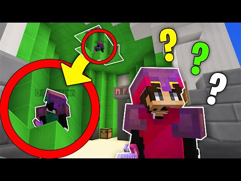 We Built A FAKE ROOF Hiding Spot In Bedwars!