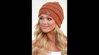 Женские Вязаные Шапки Спицами - 2019 / Women's Knitted Caps Knitting