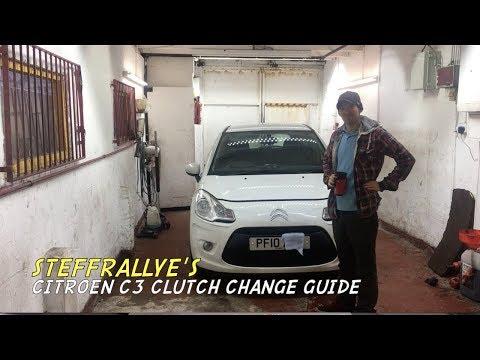 Citroen C3 clutch change, quick guide
