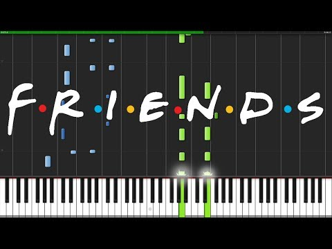 Friends Intro Theme Piano Tutorial Synthesia  Fontenele NXT