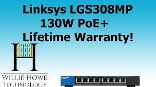 Linksys GS308MP 8 Port 130W PoE+ Switch