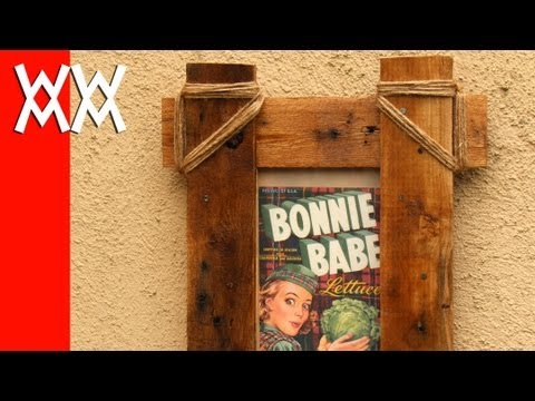 Make a rustic picture frame with pallet wood