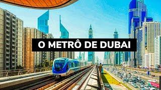 De metrô em Dubai