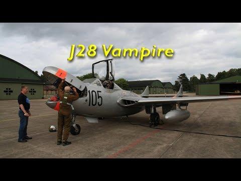 J28 Vampire lämnar F5 mot F10