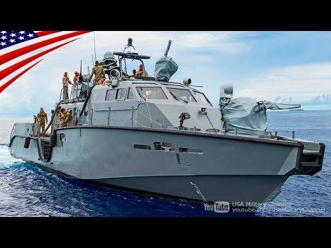 特殊部隊ネイビーシールズ潜入用の新型艇「Mk6 パトロール艇」 25mm砲2基搭載