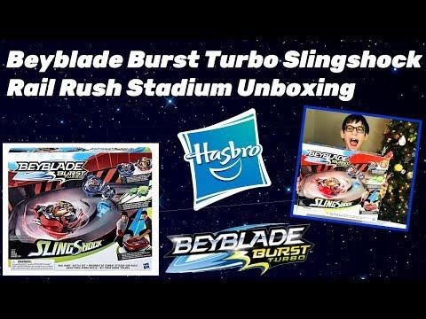 Beyblade Burst Slingshock Rail Rush Battle Set Unboxing