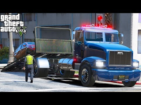 New Series | Another Day At Work #1 | GTA 5 Real Life Mod | Repo Driver | Working Flatbed Tow Truck