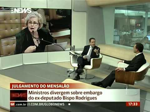 Jornal GloboNews   Breno Melaragno comenta segundo dia de julgamento de recursos do mensalão   globo