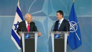 NATO Secretary General with President of Israel (Joint Press Point)