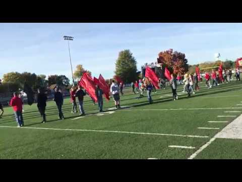 Hannibal High School Pirate Pride Marching Band practices field show
