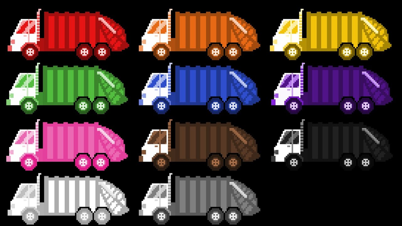 garbage truck colors street vehicles the kids picture show fun educational learning video youtube