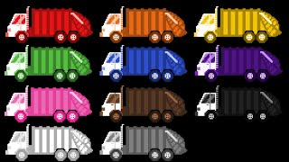 Garbage Truck Colors - Street Vehicles - The Kids